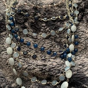 Charming Charlie Layered Jeweled Beaded Necklace